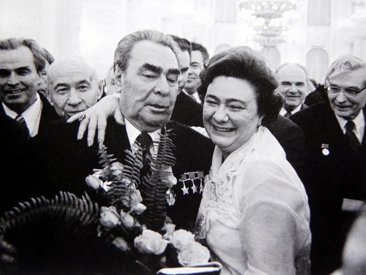 Леонид Брежнев со своей дочерью Галиной