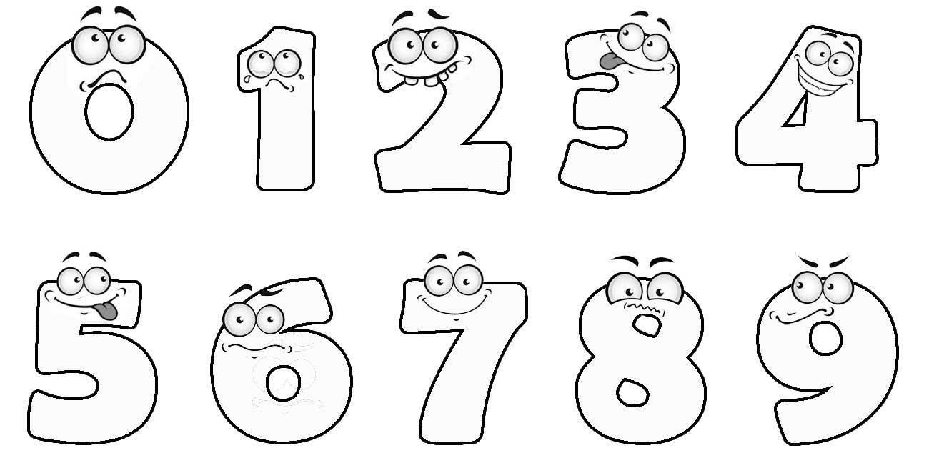 учим цифры раскраска