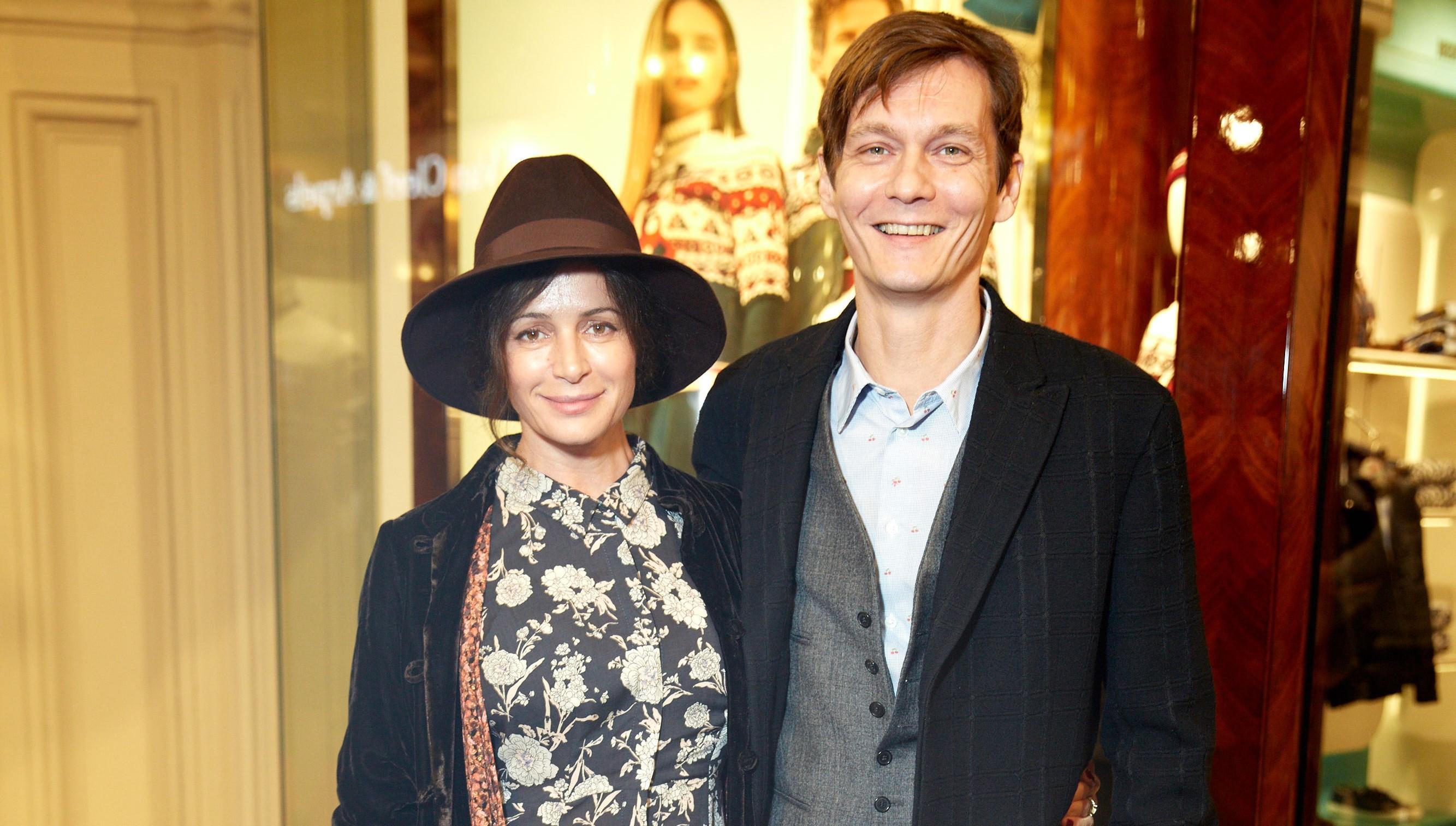 Оксана Фандера с мужем Филиппом Янковским