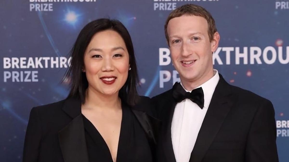 Присцилла Чан с мужем