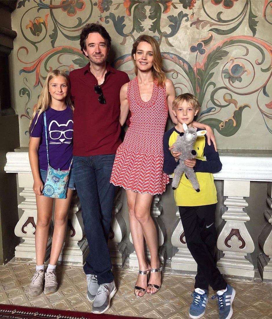 Наталья с Антуаном Арно и детьми